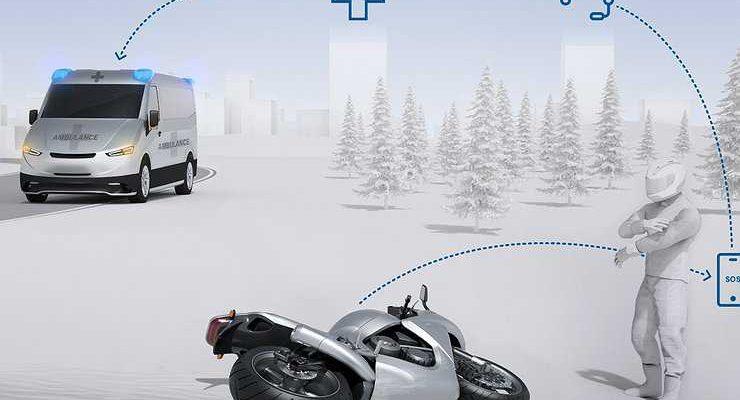 На мотоциклах появится система автоматического вызова экстренных служб при ДТП